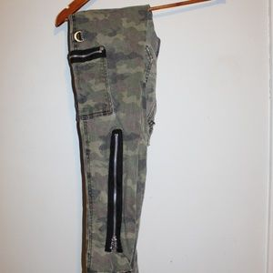 Royal Bones Jeans - Camo Skinny Jeans with Accent Zippers Royal Bones
